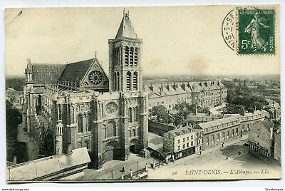 CPA -Carte postale-France- Saint Denis - L'Abbaye - 1908 (CP1775)