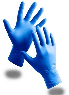 100 Pack Of Kids Childrens Strong Powder Free Blue Nitrile Disposable Gloves ##