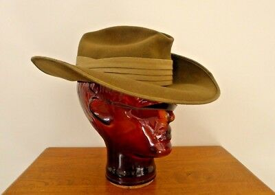 Australian Military Slouch Hat Made By Akubra; Dated 1978, Size 55. Complete.