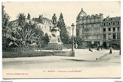 CPA -Carte postale-France - Nancy - Statue et place Thiers (CP1798)