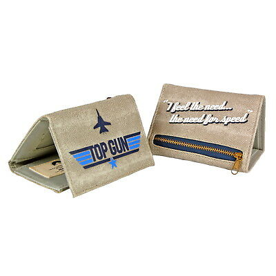 NEW OFFICIAL Top Gun Logo Classic Retro Boys Mens Wallet