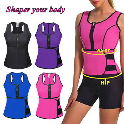 Sweat Sauna Body Shaper Women Slimming Vest Thermo Neoprene Waist Trainer Corset
