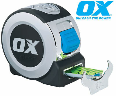 OX Tools 5m Tape Measure Metric & Imperial Heavy Duty Professional Tools