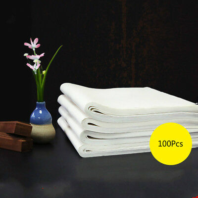 100Pcs Chinese Xuan Paper Calligraphy Painting Rice paper Brush Ink Writing Tool