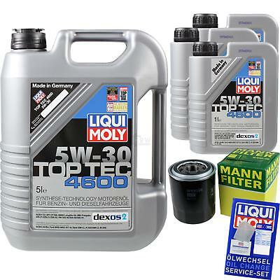 MANN-FILTER KIT CAMBIO ACEITE 8l LIQUI MOLY 3756 TOP TEC 4600 5w-30 mlm-9783564