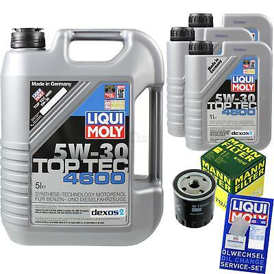 MANN-FILTER KIT CAMBIO ACEITE 8l LIQUI MOLY 3756 TOP TEC 4600 5w-30 mlm-9783538