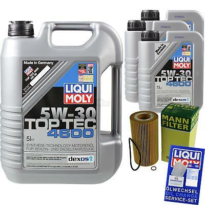 MANN-FILTER KIT CAMBIO ACEITE 8l LIQUI MOLY 3756 TOP TEC 4600 5w-30 mlm-9783532