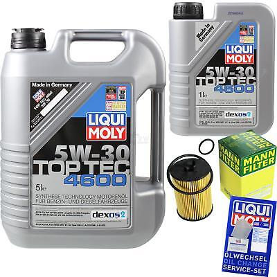 MANN-FILTER KIT CAMBIO ACEITE 6l LIQUI MOLY 3756 TOP TEC 4600 5w-30 mlm-9794875