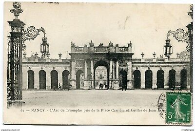 CPA -Carte postale-France - Nancy -L'Arc de Triomphe pris de la Place Carrière
