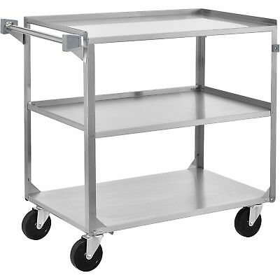 Utility Cart 39-1/4 x 22-3/8 x 37-1/4 500 Lb Cap Stainless Steel, Lot of 1
