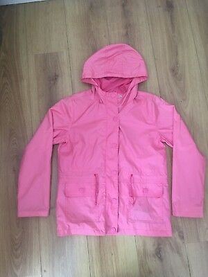 Girls NEXT Pink lightweight Hooded Showerproof Jacket (Age 11-12)