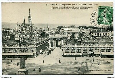 CPA -Carte postale-France -Nancy- Vue Panoramique sur la Place de la Carrière