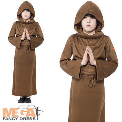 91539f0d81528 Monk Boys Fancy Dress Medieval Friar Tuck Childrens Kids Costume Childs  Outfit