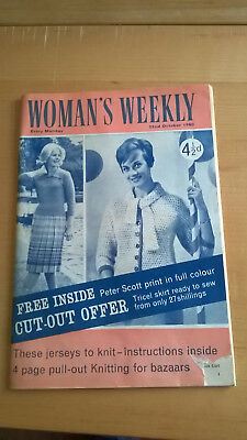 vintage magazine 1960s woman's weekly good condition knitting pattern special