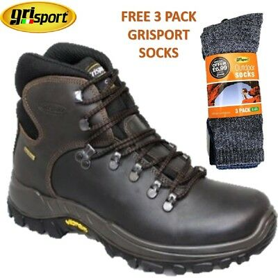 c239acf0655 GRISPORT EVEREST LEATHER Walking Boots Waterproof Brown Hiking Boots Vibram  Sole