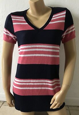 MOTHERHOOD MATERNITY Womens Size Medium Short Sleeve V Neck Tunic Sweater