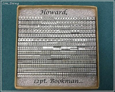 Howard Machine Personalizer ( 12pt. Bookman ) Hot Foil Stamping Machine