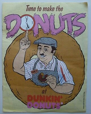 FRED Time To Make The Donuts at DUNKIN DONUTS Coloring Book Used as seen in pics