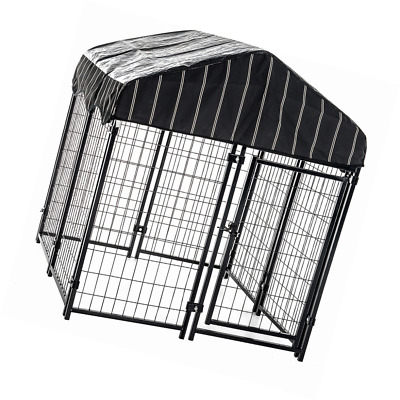 Dog Crates Kennels Link Chain Extra Large Outdoor Cage Stripped Cover Basement