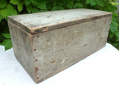 Large Vintage Retro Trunk Crate Box Distressed 1940's