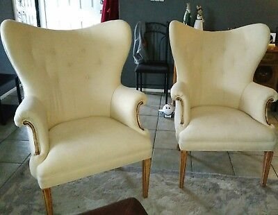 Set of 2 Wingback chairs-Post 1950's
