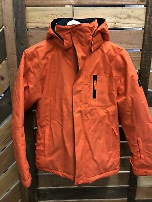 NWT Quiksilver Mission Solid Boys Jacket Large Orange