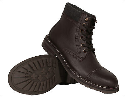 2cec6b302d14a Tommy Hilfiger Men s Leather Boots Herbie Brown New With Box Authentic