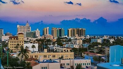 Digital Image Picture JPEG Desktop Wallpaper. South Beach Miami Cityscape