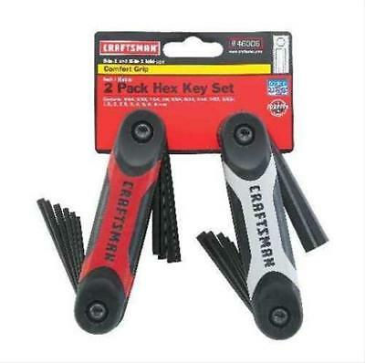 Craftsman Hex Keys Fold-Up  9-Piece SAE & 8 Piece Metric Set- 946006- Free Ship