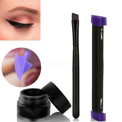 Eyeliner Stamp Easy To Makeup Tool Cat Eye Winged Stamps 3pc Set For Vamp