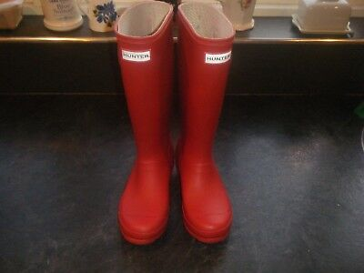 Genuine HUNTER of England red wellington boots wellies in  Size UK 3  VGC