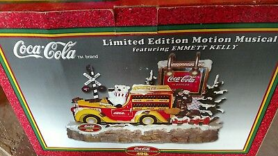 1998 Coca-Cola Limit Edition Motion Musical Featurinmg Emmitt Kelly