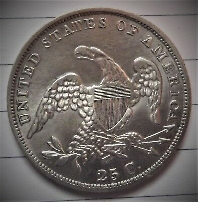 1835 Bust Quater In Rare Au+  Condition !! Real Nice Type Coin !!