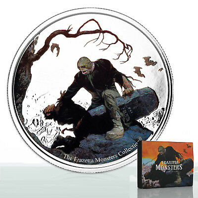 2017 Frazetta Monsters: Beyond The Grave 1oz Proof Silver Coin
