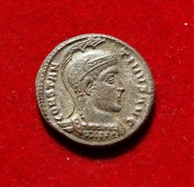 ANC -  LOVELY !!!  AE3   FOLLIS  of  CONSTANTINE I  307-337  AD - THESSALONICA