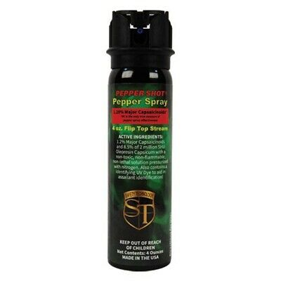 Pepper Shot 4oz Pepper Spray STREAM - HOTTEST Police Strength Self Defense