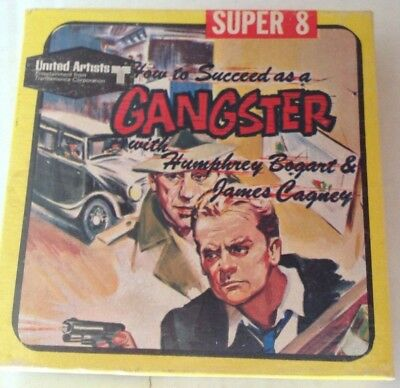 Super 8 Movie 1967 How To Succeed As A Gangster Bogart & Cagner In Box