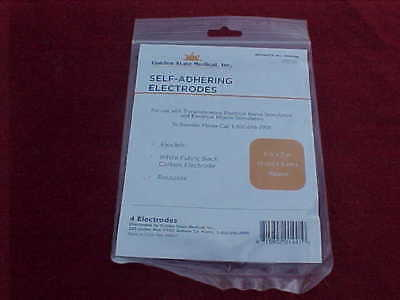 """Lot Of 40 Self Adhering Reusable Electroded For Tens Therapy Unit 10 Pks 2"""" X 2"""""""