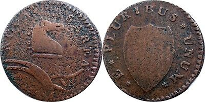 1786 New Jersey Copper, Maris 24-P, sharp near VF, lovely color, NO RESERVE