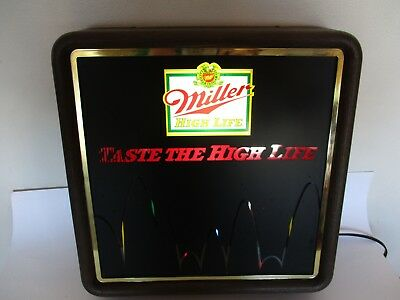 Vintage MILLER High Life Lighted Beer Sign Motion Bouncing Ball Scrolling Light