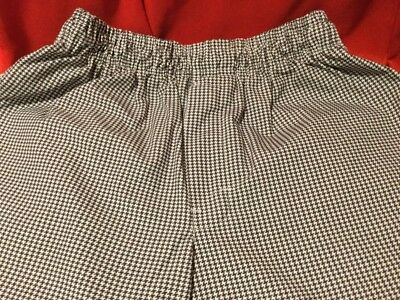 NEW ... CHEF  PANTS  by  Regent ... Black  &  White  Checks ... Size  Medium