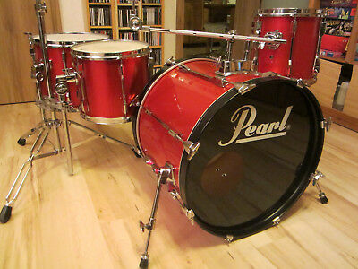 "<> PEARL <> Shellset & Hardware <> Candy Apple Red <> 20"" 10"" 12"" 14"" <>"