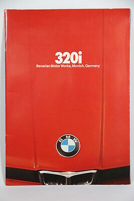 1979 79 BMW 320i Original-Auto Brochure-Booklet-Catalog Near Mint! Red Cover