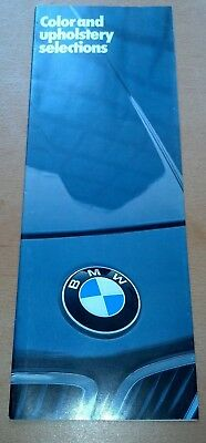 1983 BMW 318/528/533/733/633 Original-Auto Brochure-Catalog Color/Upholstery