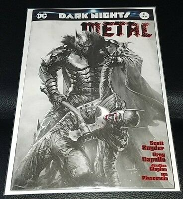 Dark Nights Metal #6 Gabriele DellOtto Exclusive B&W Variant Batman Who Laughs