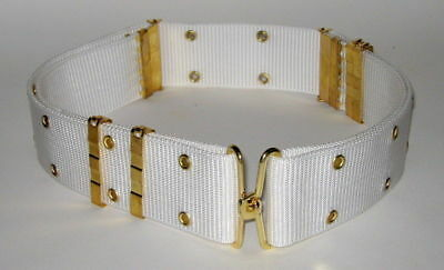 Military Police White Ceremonial Parade Web Pistol Belt Extra Large Heavy Duty