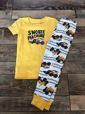 Gymboree Snooze Machine Tractor short sleeve Pants Boys Pjs pajamas Nwt Size 5