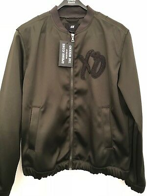 The Weeknd XO Jacket! H&M Spring Icons Olive Black Bomber Jacket w/ Black Patch