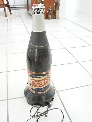 "Vintage Pepsi Cola Bottle Radio Rare Model 320  loud hum, 23 1/4"" tall Novalty"