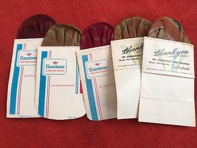 Vintage Pocket Insert Hankies For Suits Dry Cleaners Advertising Sanitone NR